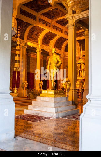 Throne Hall, Royal Palace, Phnom Penh, Cambodia., Indochina, Southeast Asia, Asia - Stock Image