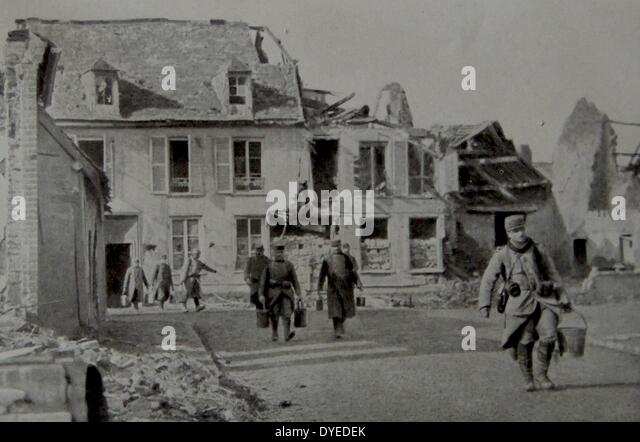 House destroyed in the war. - Stock Image