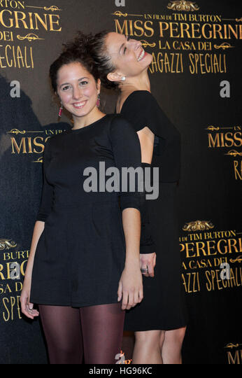 Blu Yoshimi and Lidia Vitale attending the Rome premiere of 'Miss Peregrine's Home for Peculiar Children' - Stock Image