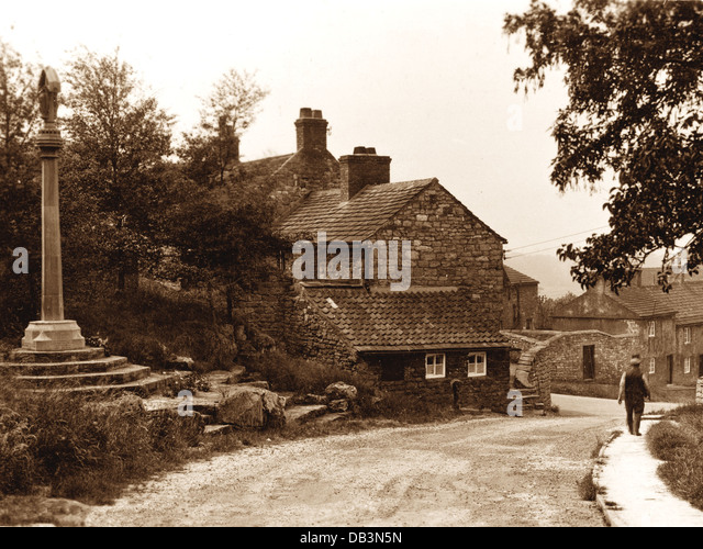 Hooton Pagnell early 1900s - Stock Image