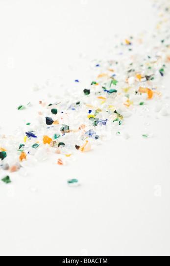 Bits of multicolored glass - Stock-Bilder