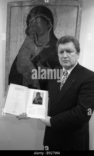 Alexander Burkin chairman of the Russian Antique Dealers Union - Stock Image