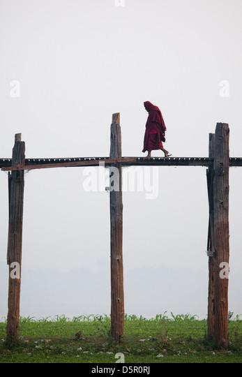 U Bein Teak Bridge, Amarapura, Myanmar - Stock-Bilder