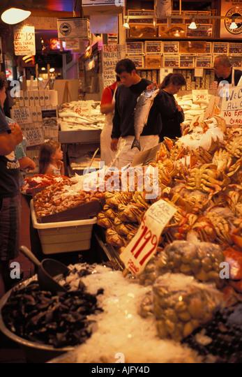 Wasington stock photos wasington stock images alamy for Pure food fish market