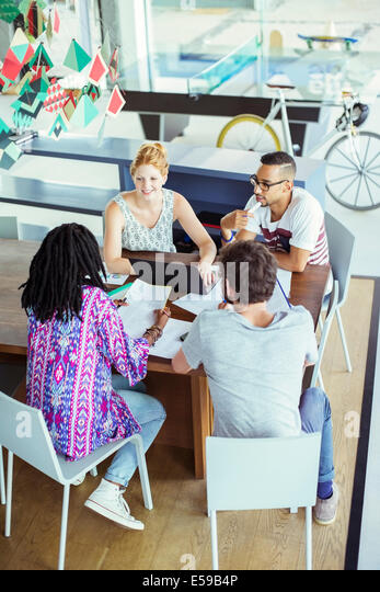 People talking in office - Stock Image