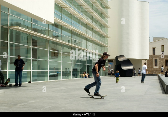 Museu d´Art Contemporani de Barcelona MACBA (Museum of Contemporary Art). Barcelona City. Spain - Stock Image