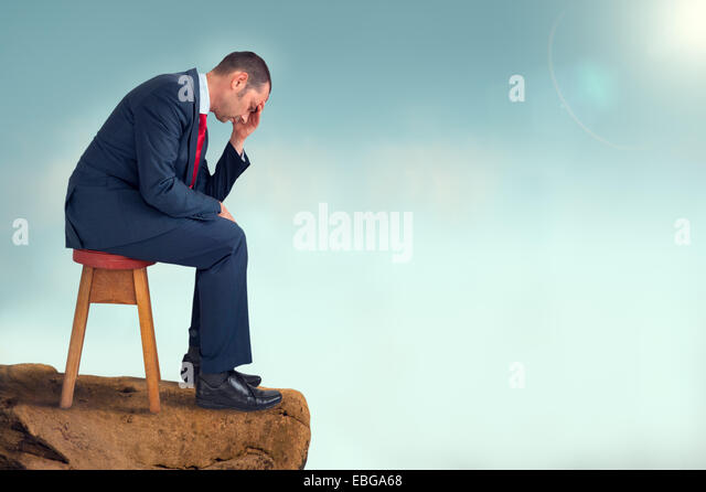depressed businessman - Stock Image