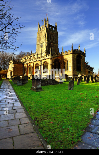 St Mary's parish church, Fairford, Gloucestershire - Stock Image