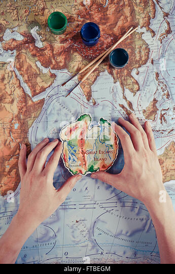 Great Escapist Island - Stock Image