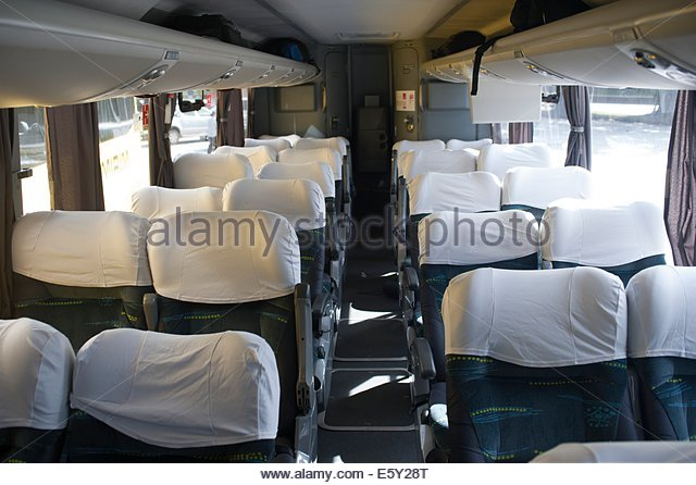 Brazil, interior of an intercity bus. - Stock-Bilder