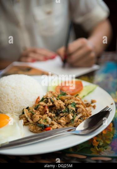Traditional laos cuisine - Stock Image