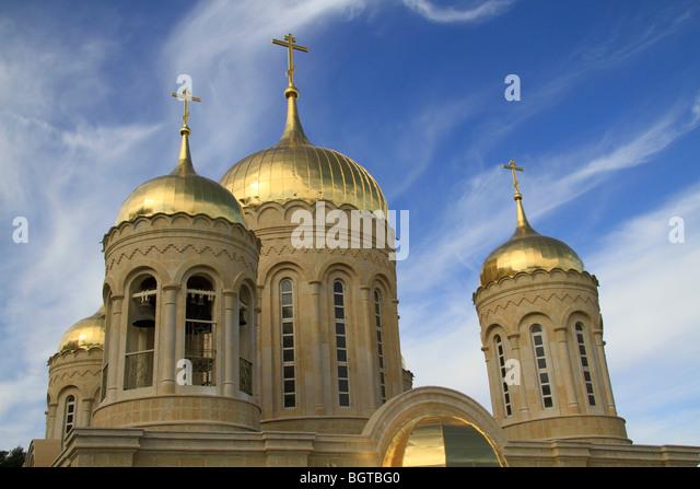 Israel, Jerusalem, the Russian Orthodox Church in Ein Karem - Stock Image