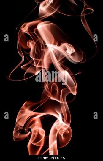 Abstract smoke swirls representing 'hot gases' - Stock Image