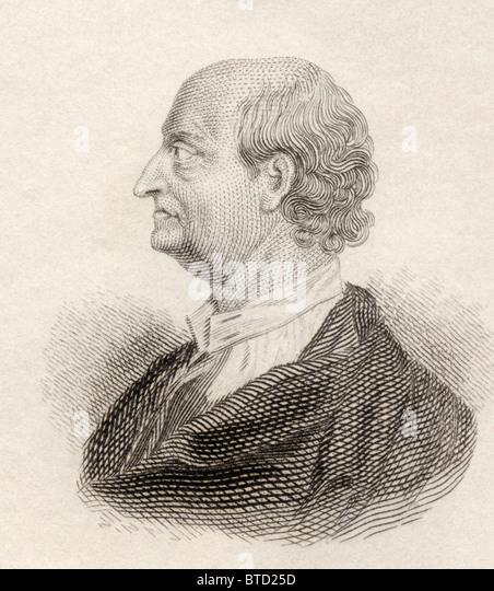 George Edwards, 1694 to 1773. English naturalist and ornithologist. - Stock Image