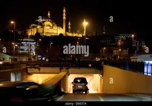 Rüstem Pasha Mosque in Istanbul - Stock Image
