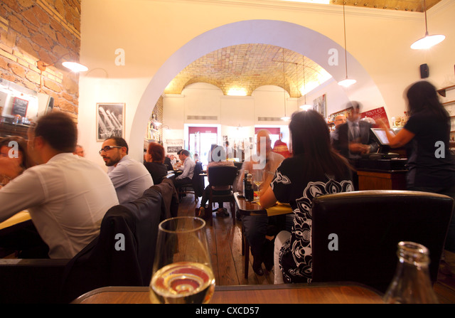 Rome, city, restaurant, bar, cafe, Via Messina, local business, lunch - Stock Image