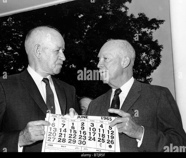General Omar N. Bradley  with, General Dwight D. Eisenhower, 1965 - Stock Image
