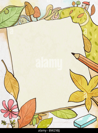 autumn air in illustraion - Stock-Bilder