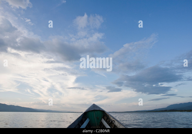 Boat on Inle Lake, Myanmar - Stock-Bilder