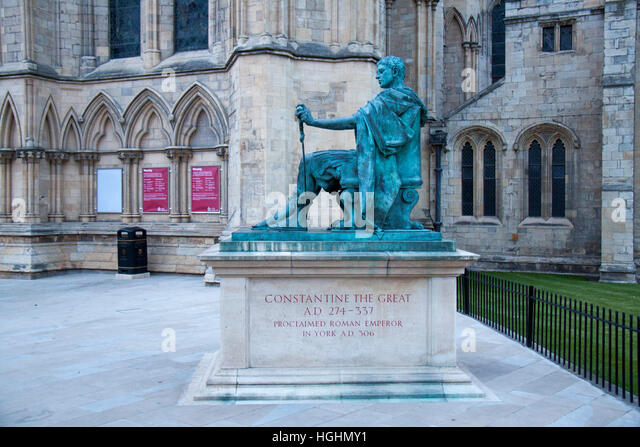 Statue of Constantine The Great, York, England - Stock Image