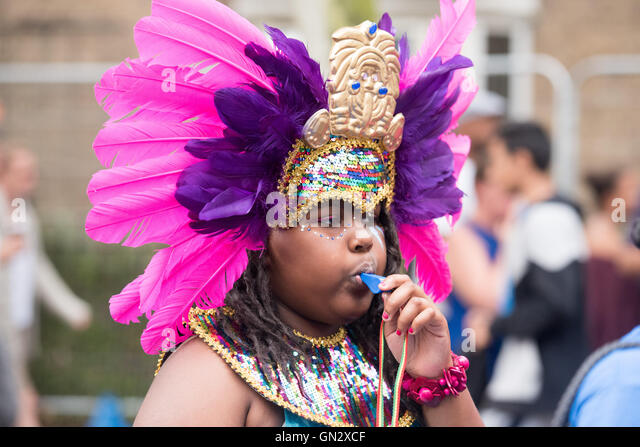 London 28th August, 2016, child at Notting Hill Carnival, Credit:  Ian Davidson/Alamy Live News - Stock-Bilder
