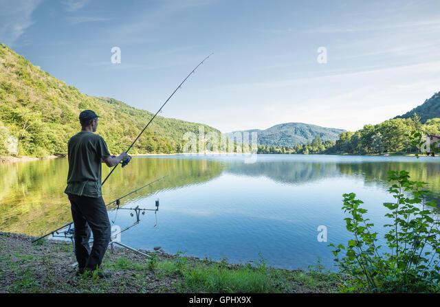 Angler carp stock photos angler carp stock images alamy for Banks lake fishing