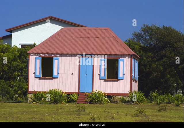 Anguilla traditional house - Stock Image