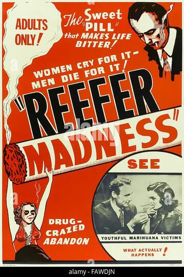 Reefer Madness (1936) directed by Louis J. Gasnier and starring Dorothy Short, Kenneth Craig and Lillian Miles. - Stock Image