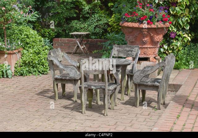 uk garden patio furniture stock photos uk garden patio