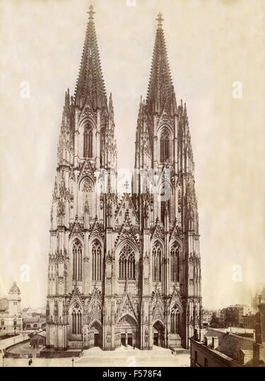 The cathedral of Cologne, Germany - Stock Image