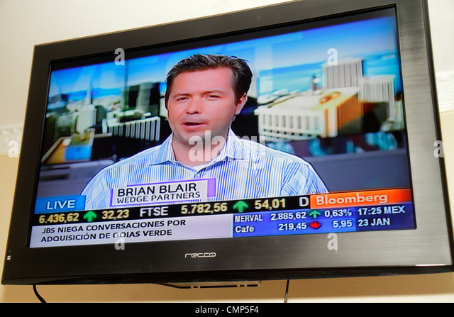 Chile Santiago television TV - Stock Image