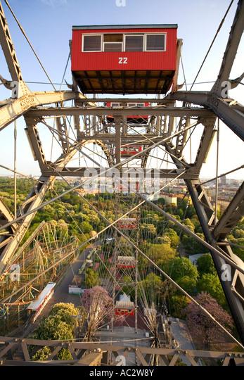 Vienna Austria Prater Big Wheel - Stock Image