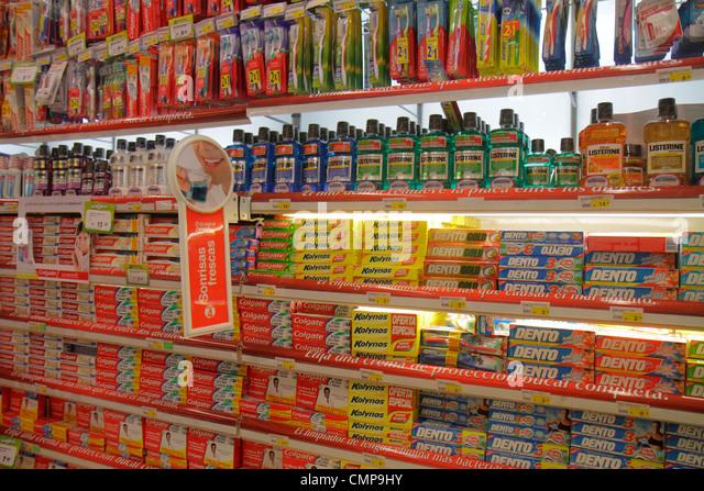 Lima Peru Santa Ana Avenida Canaval y Moreyra business shopping Metro grocery store supermarket hypermarket business - Stock Image