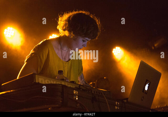HQFU, Sarah J Stanley, performing at The Dome in Tufnell Park, London - Stock Image