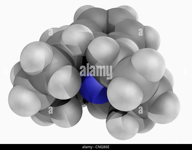 PCP drug molecule - Stock Image