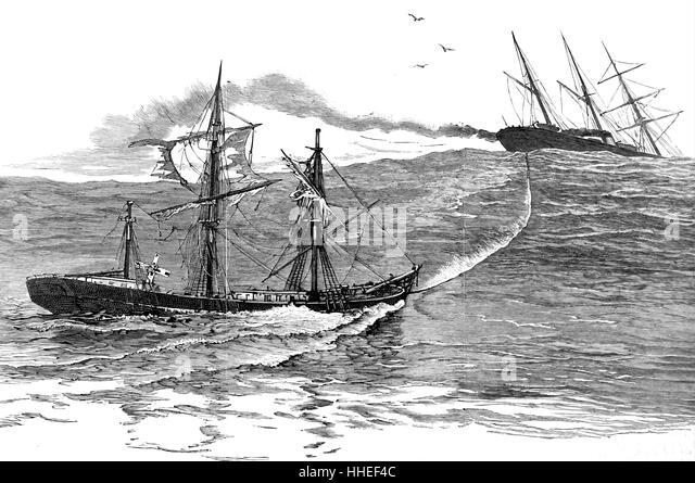 Engraving of the SS Palmyra. Dated 19th Century - Stock-Bilder
