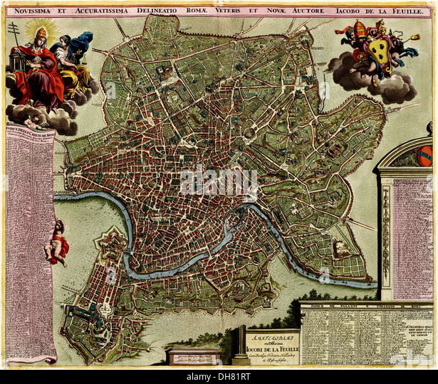 Amsterdam with fortifications 1700 - Stock-Bilder