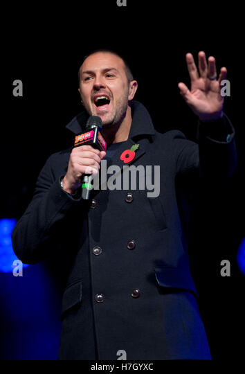 Manchester, UK. 4th November 2016. TV personality Paddy McGuinness hosts the annual Christmas Lights Switch-on in - Stock Image