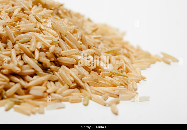 Brown rice - Stock Image