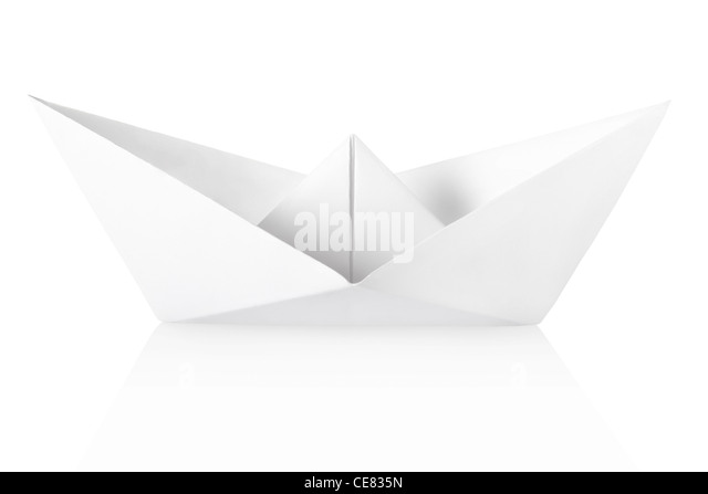 Paper boat - Stock Image