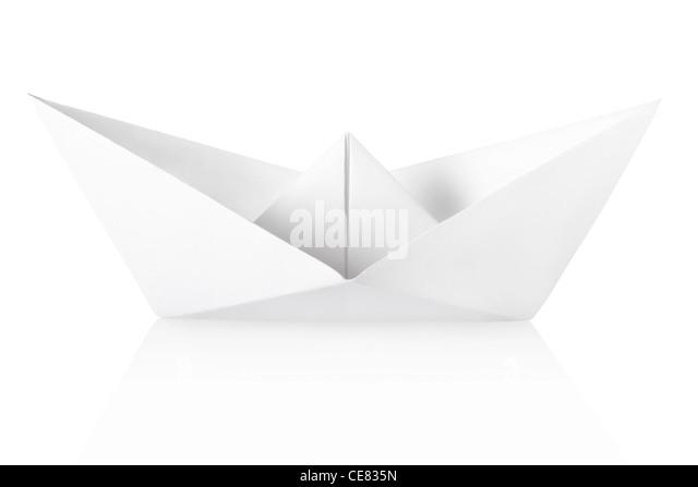 Paper boat - Stock Image