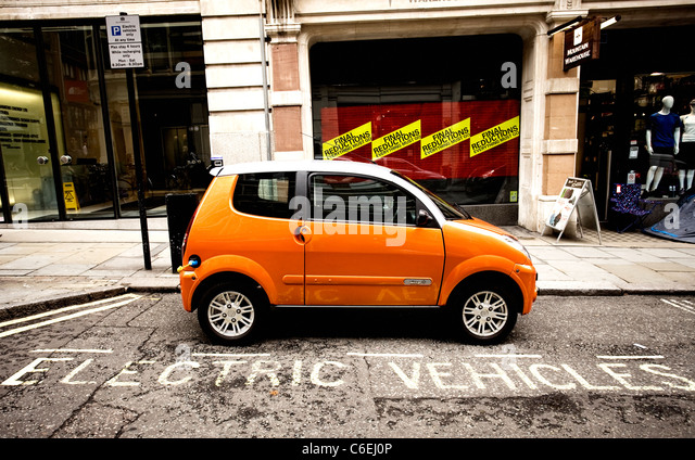 London electric car recharging point - Stock Image