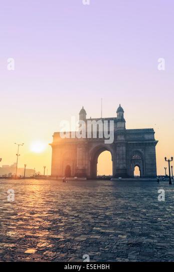 The Gateway of India in Mumbai at dawn, Maharashtra, India - Stock Image