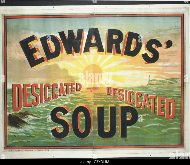 Edwards' Dessicated Soup, by Henry Blaclock and Co., England, early 20th century - Stock-Bilder