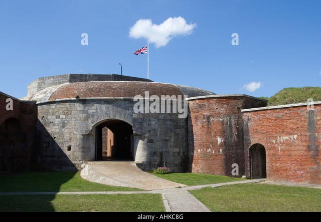 Hurst Castle Interior, Hurst Spit, Keyhaven, Hampshire, UK - Stock Image