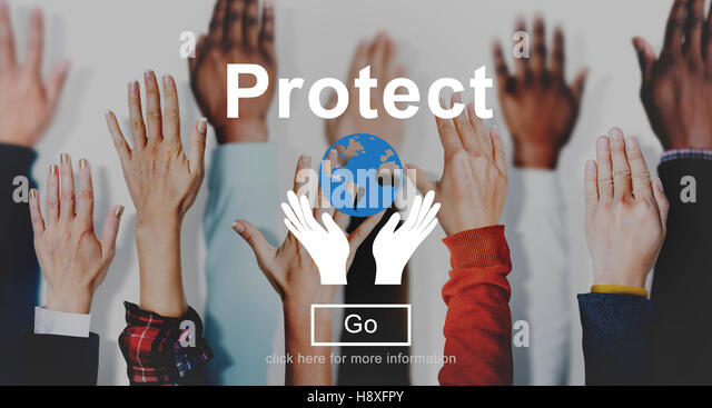 Protect Environmentally Friendly Preservation Concept - Stock Image