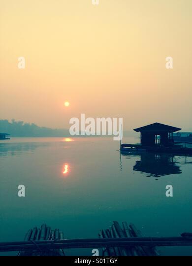 Sunrise at Samprasob River,Thailand. - Stock Image