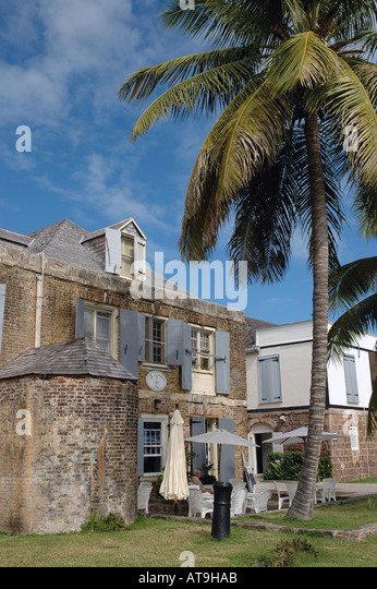 Antigua Copper and Lumber Store Hotel at English Harbour Nelsons Dockyard National Park Antigua - Stock Image