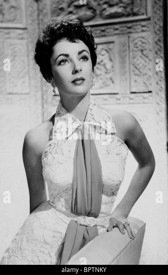 ELIZABETH TAYLOR ACTRESS (1958) - Stock-Bilder