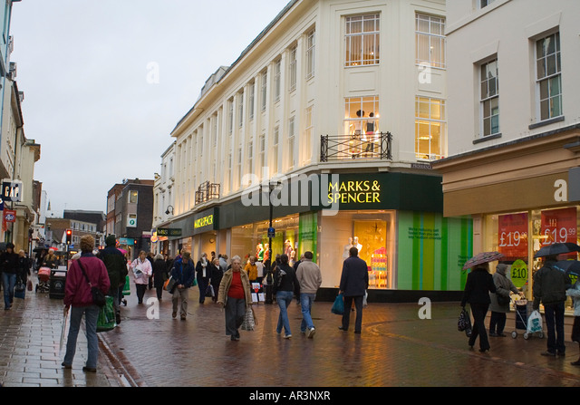 Ipswich Shopping Mark & Spencer Shop - Stock Image